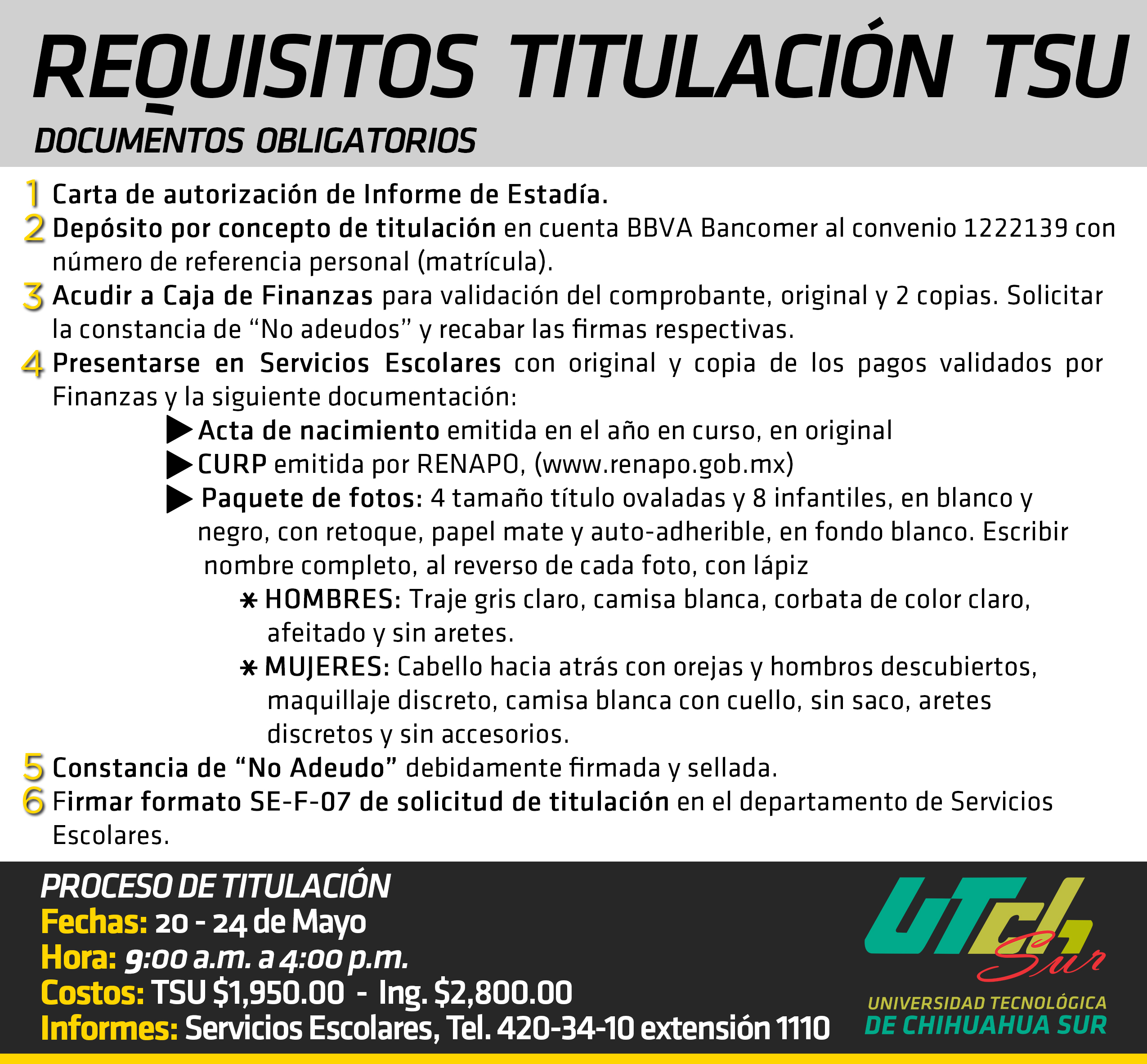 Requisitos TSU