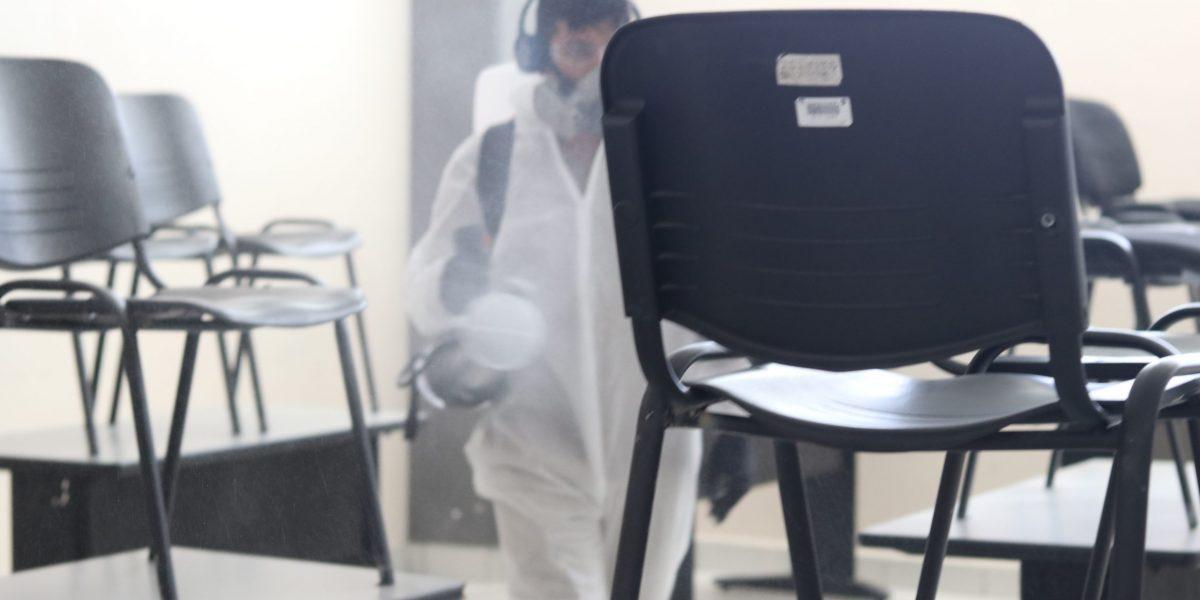 Todas las aulas fueron sanitizadas